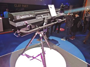 The new Merlin followspot on the Robert Juliat-Ambersphere Solutions stand at PLASA 2014 mod sml