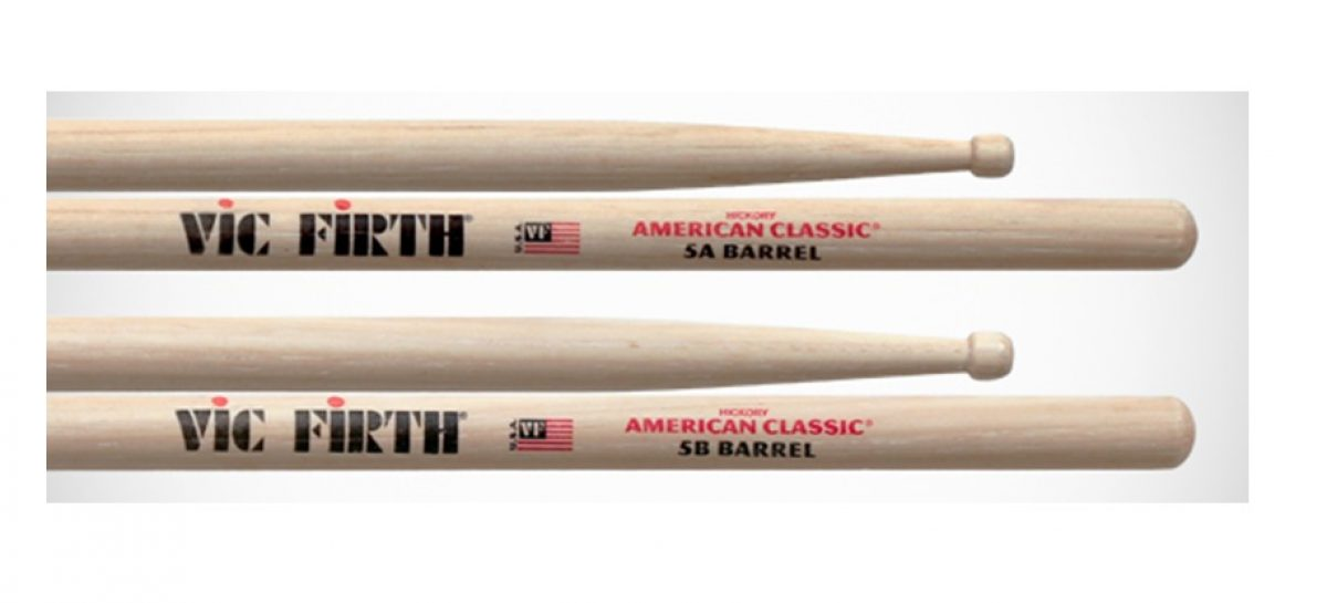 Las baquetas American Classic 5A y 5B de Vic Firth ya están disponibles con Barrel Tips