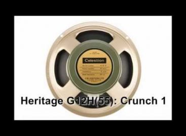 Celestion estrena el Heritage G12H 55Hz Impulse Responses