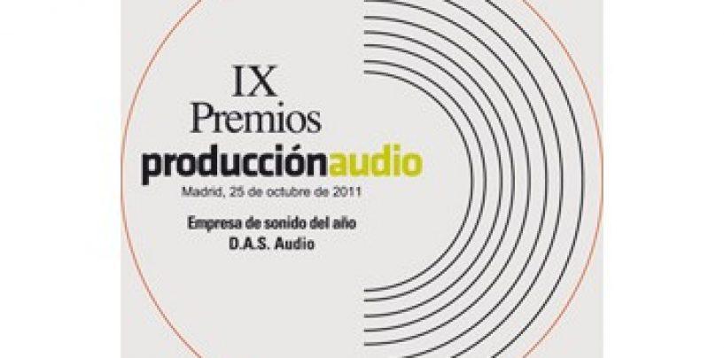 Recibe DAS Audio, Premio Producción Audio