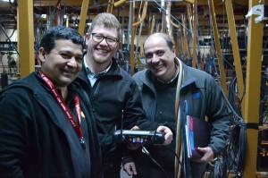 Luis Quiroz, Diseñador de Iluminación de Canal 13, Gerente de Producto en VALOOK Francisco Yañez Valdivia, Gerente de Ventas en VALOOK Alejandro Cortez