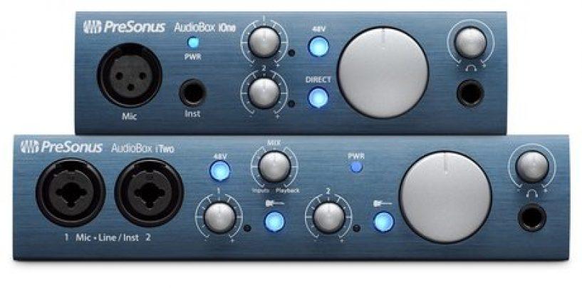 PreSonus lanza las interfaces AudioBox iOne y AudioBox iTwo