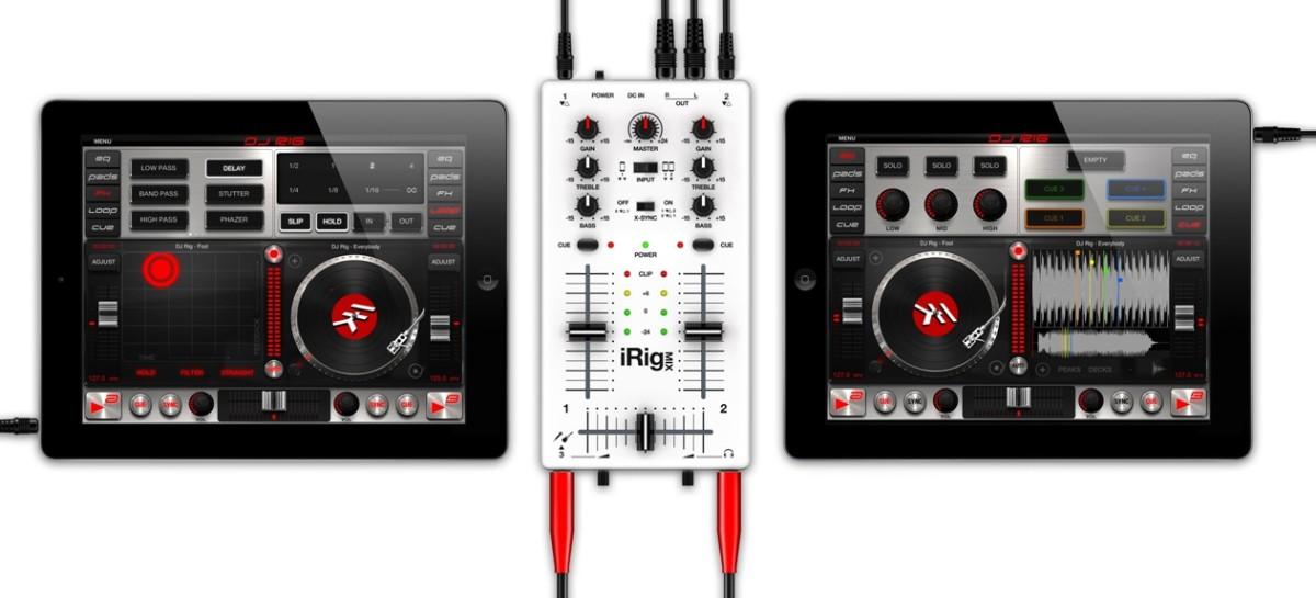 El nuevo DJ Rig para iPad de IK Multimedia con soporte para conectar el iRig Pads