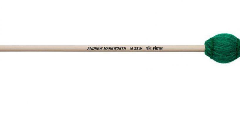 Este año Vic Firth presentó dos nuevos mazos de Andrew Markworth
