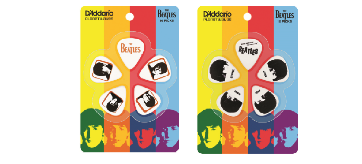 D'Addario lanza edición limitada de correas y púas The Beatles 2014
