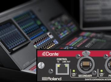 Roland se asocia con Audinate para ofrecer Dante con la nueva consola M-5000