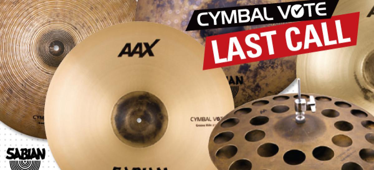 Cymbal Vote de SABIAN termina con un último llamado