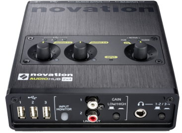 Novation presenta el concentrador USB Audiohub 2×4