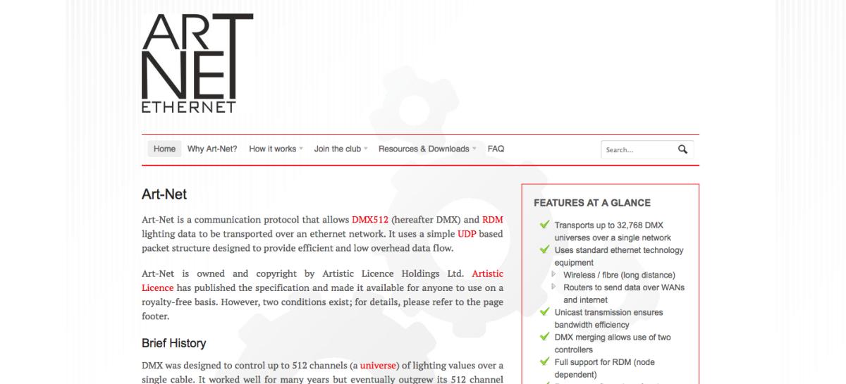 Artistic Licence presenta sitio web dedicado a Art-Net