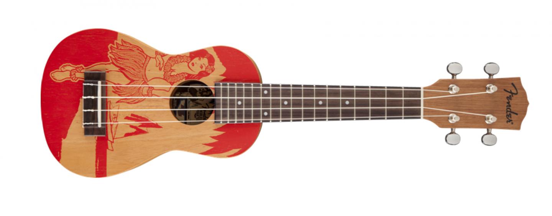 """Fender: Ukulele soprano Piha'ea """"Red Hula"""""""