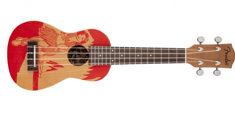 "Nuevo ukulele soprano Piha'ea ""Red Hula"" de Fender"