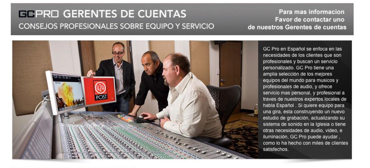 Micro-sitio en español disponible de GC Pro