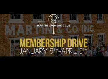 Martin Guitar anuncia nuevas fechas para la campaña de membrecía 2015 del Martin Owners Club