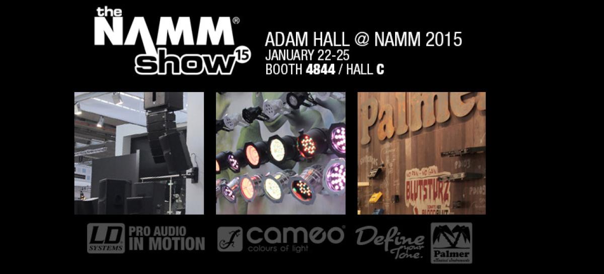 Adam Hall dirá presente en NAMM Show 2015