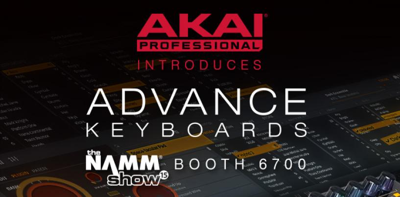 La serie Advanced Keyboard de Akai Professional llega al NAMM Show 2015