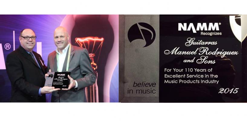 Guitars Manuel Rodríguez SL recibió el NAMM Milestone Award