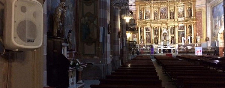 Instalación FBT Audio y Sennheiser en iglesia española