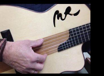 D Cutaway Boca MR Café con Leche es la nueva guitarra de Manuel Rodríguez