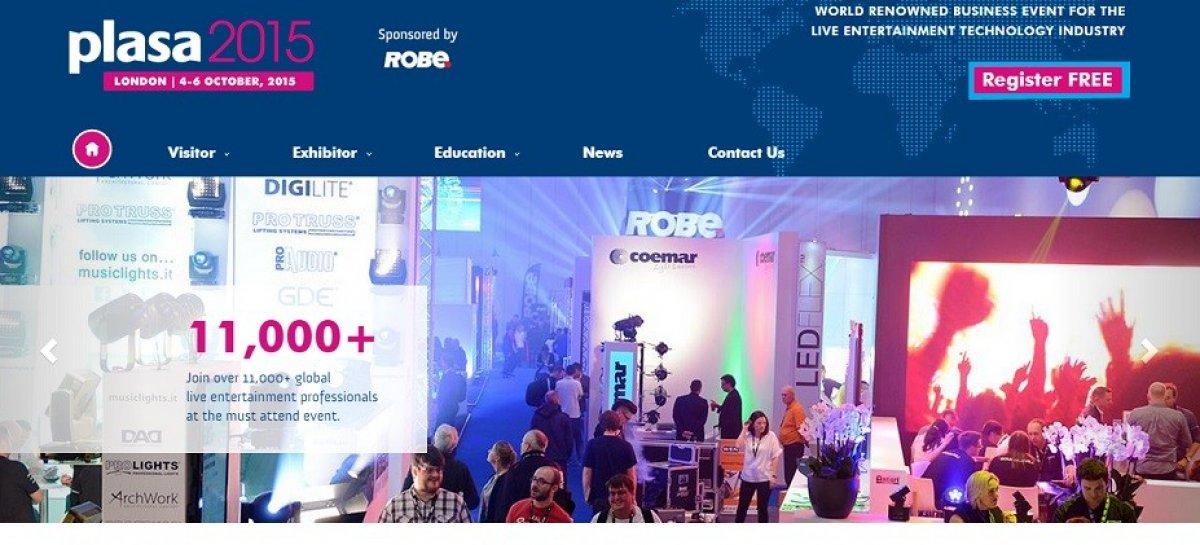 Nuevo sitio web refleja el rediseño de PLASA Show 2015