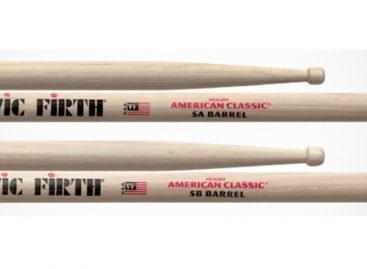 Las baquetas American Classic 5A y 5B de Vic Firth ya están disponibles con Barrel Tips