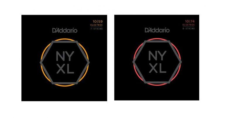Las cuerdas NYXL de D'Addario disponibles en sets de 7 y 8