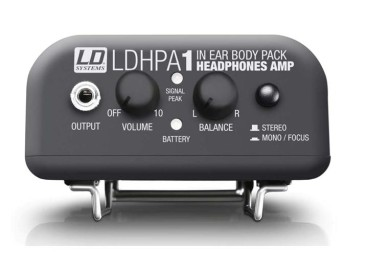 Los audífonos también cuentan con amplificador: HPA 1 de LD Systems