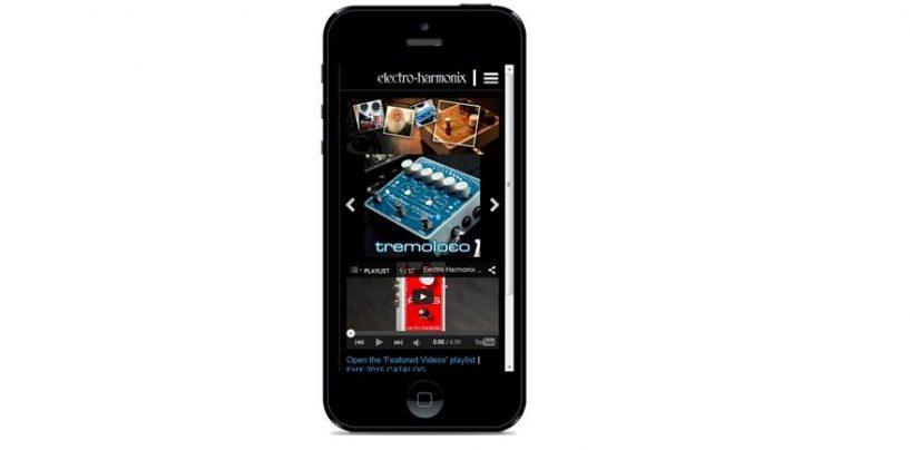 Electro-Harmonix lanzará sitio web móvil
