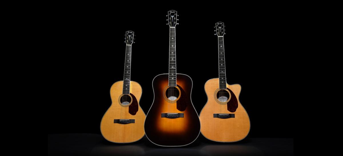 Nuevos modelos de guitarras acústicas Paramount Series de Fender