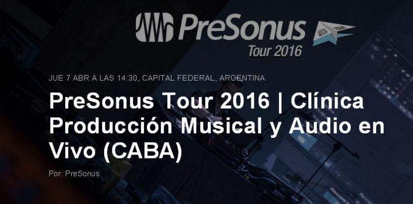 PreSonus Tour 2016 hace parada en Argentina