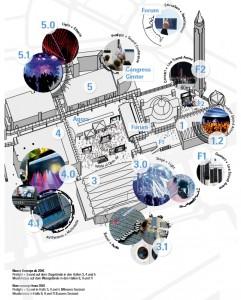 Mapa de Prolight + Sound Frankfurt 2016
