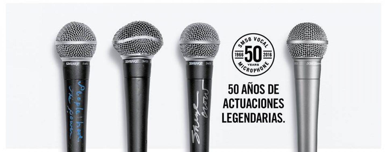 El SM58 cumple 50 años y Shure los celebra con el SM58-50A