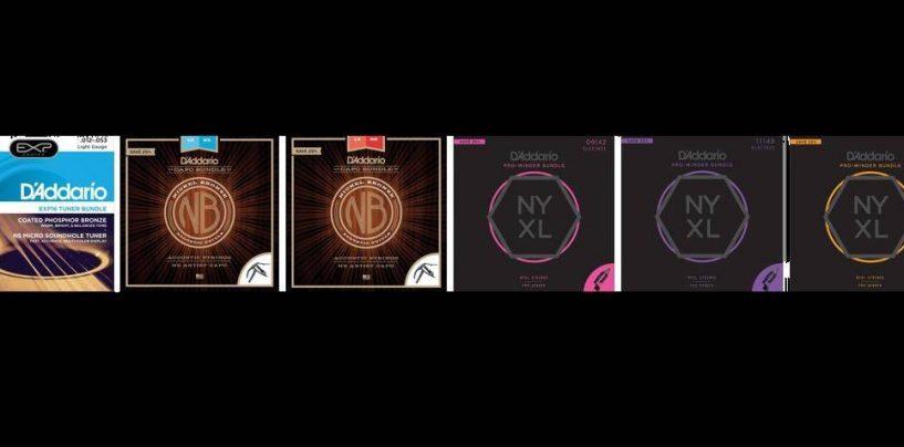 D'Addario lanza los paquetes de cuerdas D'Addario's Holiday Bundles