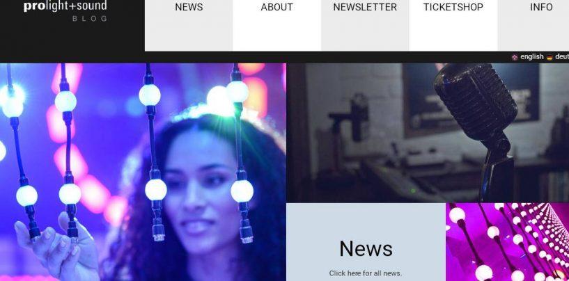 El blog de Prolight + Sound se renueva