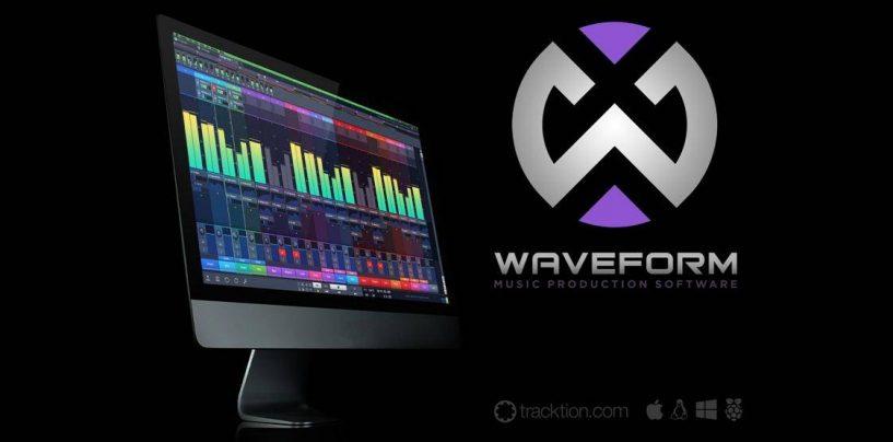 Tracktion lanza Waveform DAW