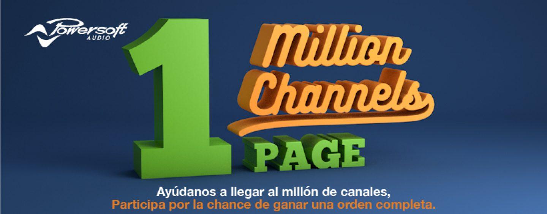 Powersoft se plantea una nueva meta con la Campaña One Million Channels