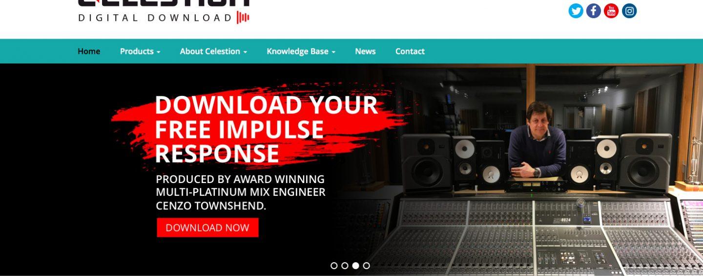 Celestion introduce nuevo sitio y sonidos digitales