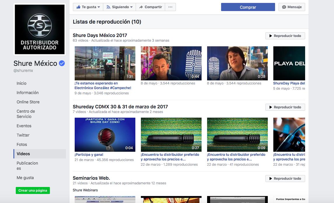Shure Mexico Facebook