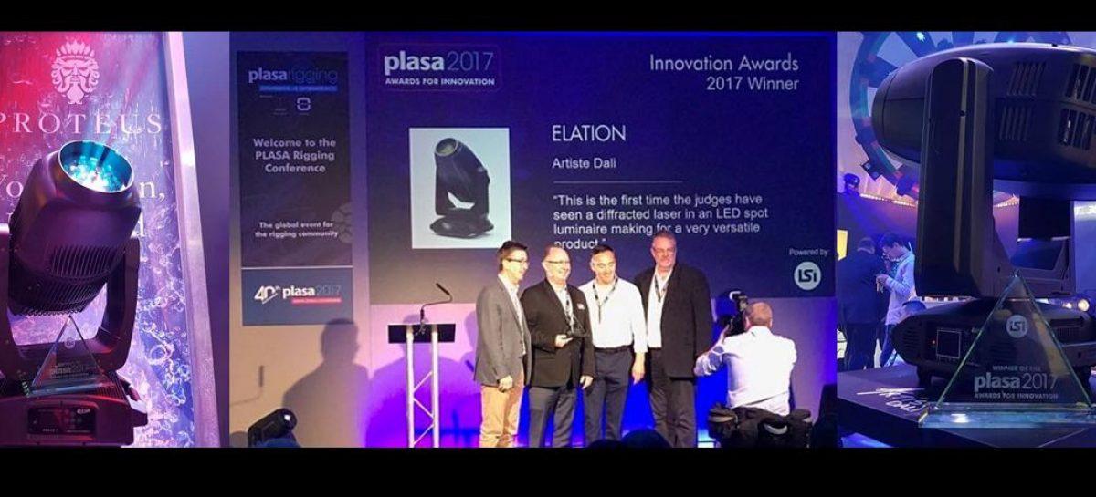 Luminarias de Elation fueron galardonadas en PLASA Show