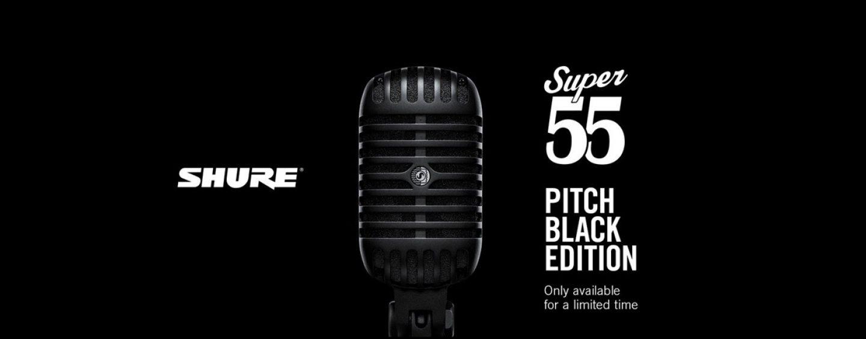 Shure lanza el micrófono Super 55-BLK, edición limitada