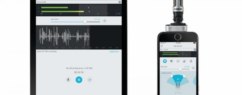 Shure: nueva versión de su Aplicación de Grabación Móbil ShurePlus MOTIV