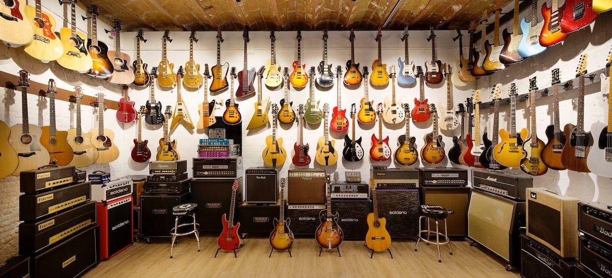 Foco en las guitarras en Fanatic Guitars