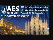 La AES Milán 2018 anuncia «The Power of Sound»
