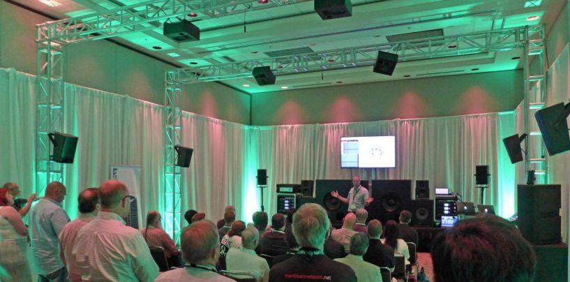 Alcons Audio y ASA llevan sonido en vivo inmersivo a InfoComm 2018 en Las Vegas