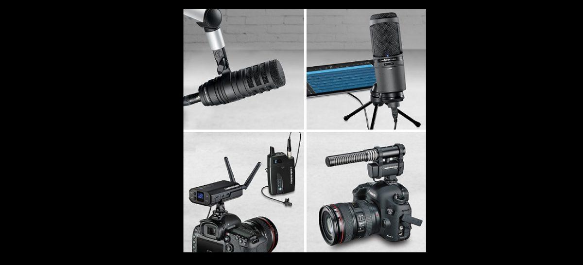 Audio-Technica trae los micrófonos AT8024, AT2020USB+, AT2020USBi, BP40, AT2005USB