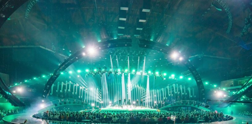 Las luminarias KNV ARC dijeron presente en el Concurso de Canto de Eurovision 2018