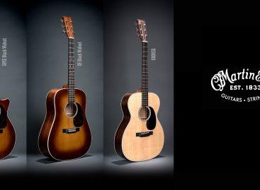 Martin Guitar recientemente presentó dos guitarras Walnut, junto a la nueva 000RSG