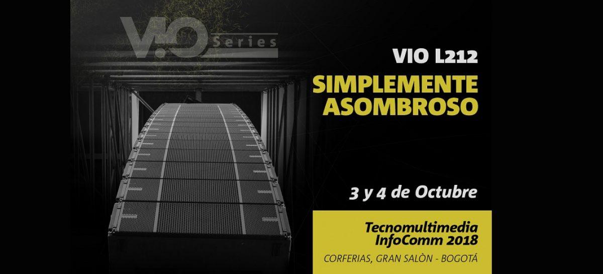 VIO L212 de dBTechnlogies en Tecnomultimedia InfoComm Colombia 2018
