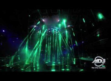 ADJ ilumina el club nocturno The City Cancún