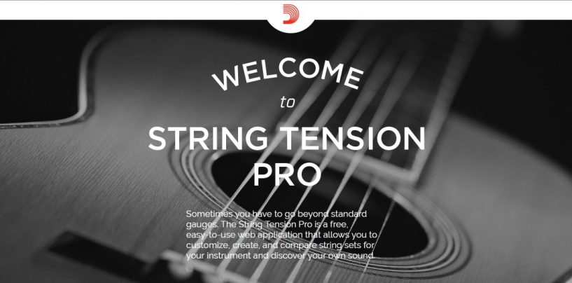 D'Addario presenta String Tension Pro, su nueva aplicación online
