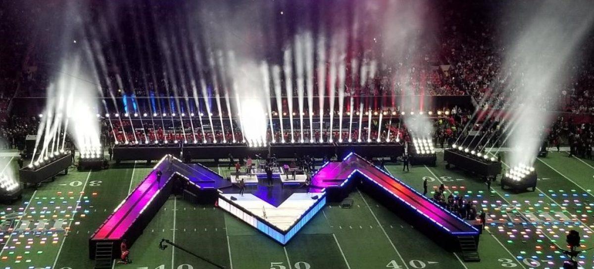 La luminaria Rayzor 760 brilló al ritmo del Halftime Show del Super Bowl LIII